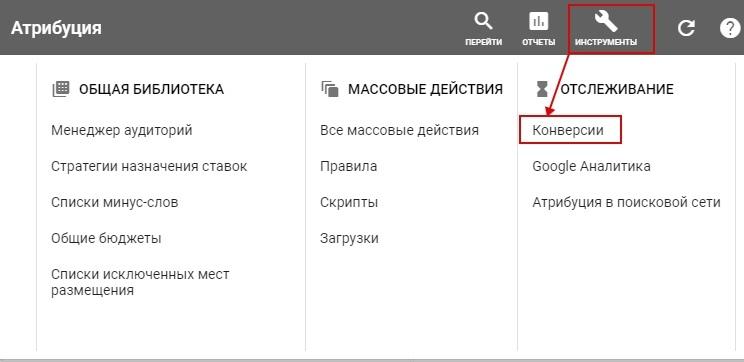 Модели атрибуции в Google Ads