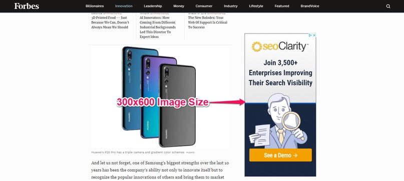 Актуальные размеры изображений в Googlе Ads