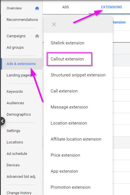 Как использовать расширения Google Ads Callout для повышения вашего CTR