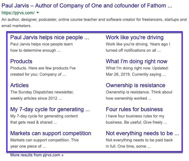 Как получить Google Sitelinks для вашего сайта WordPress