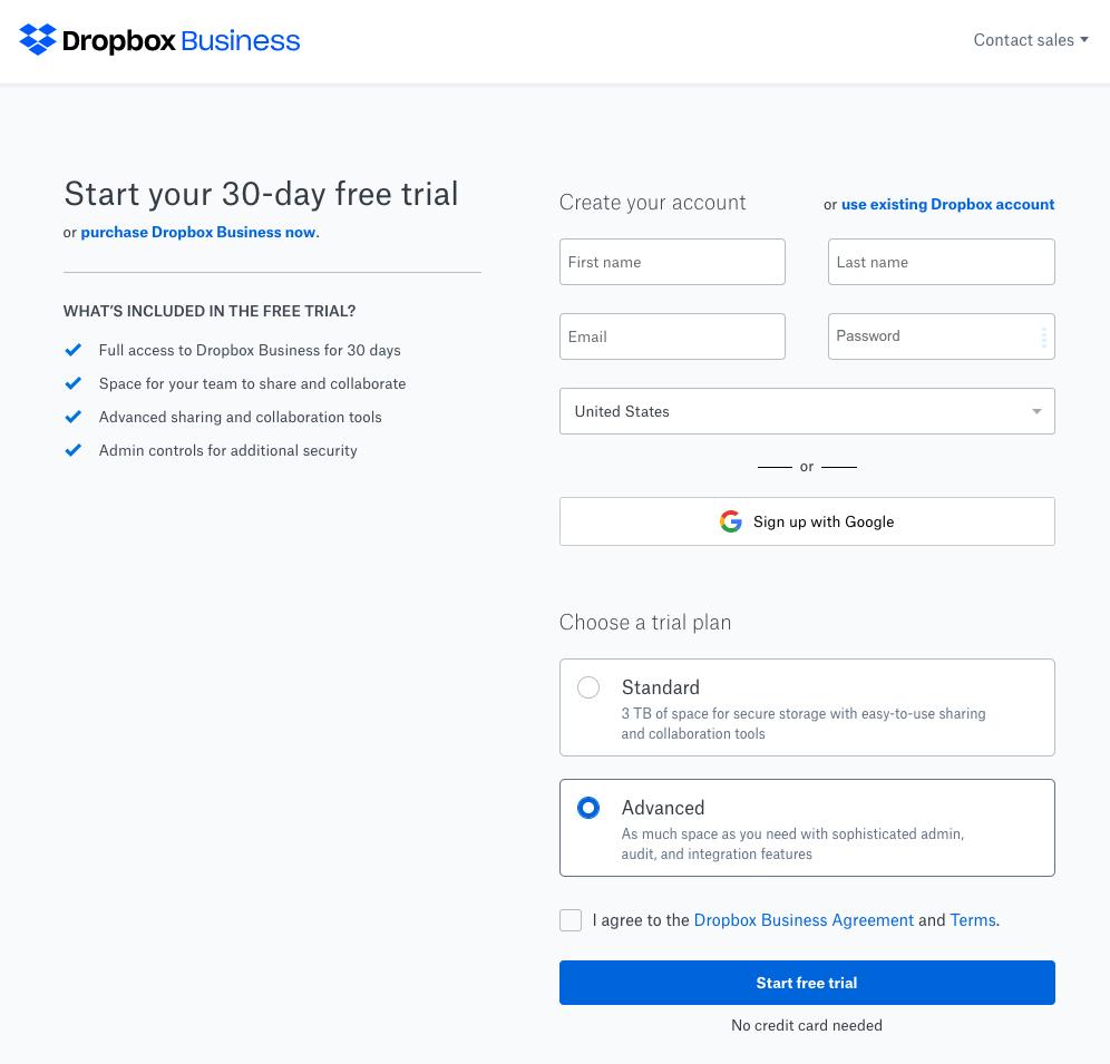 Как Dropbox использует сегментированные объявления и опыт после клика (примеры)