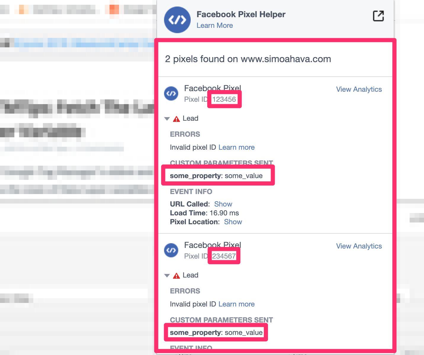 Создаем шаблон пользовательского тега для пикселя Facebook