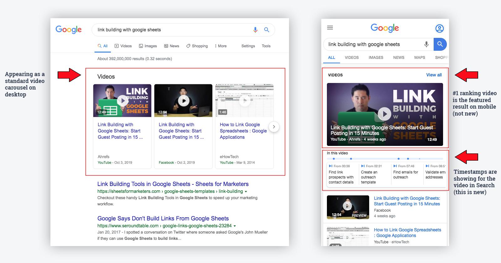 Как максимально эффективно использовать результаты с отметками времени видео в поиске Google