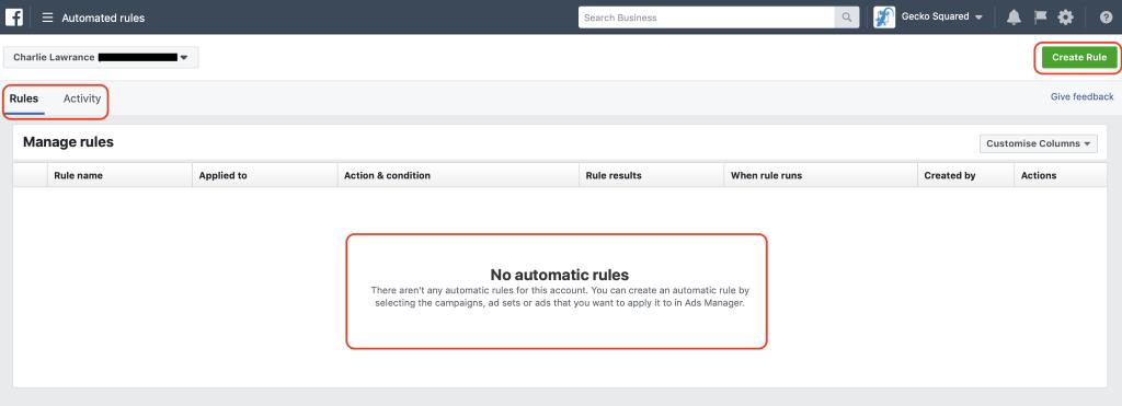 4 способа реализации автоматизированных правил Facebook