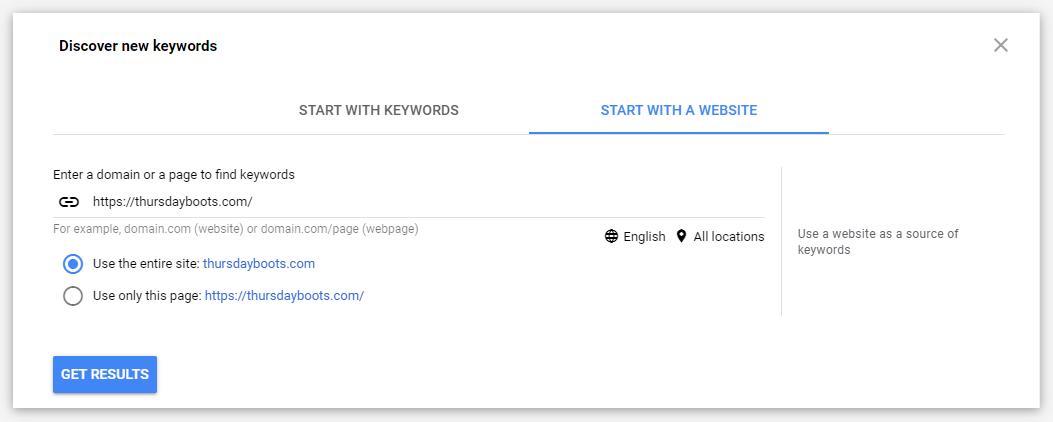 Гайд по планировщику ключевых слов Google