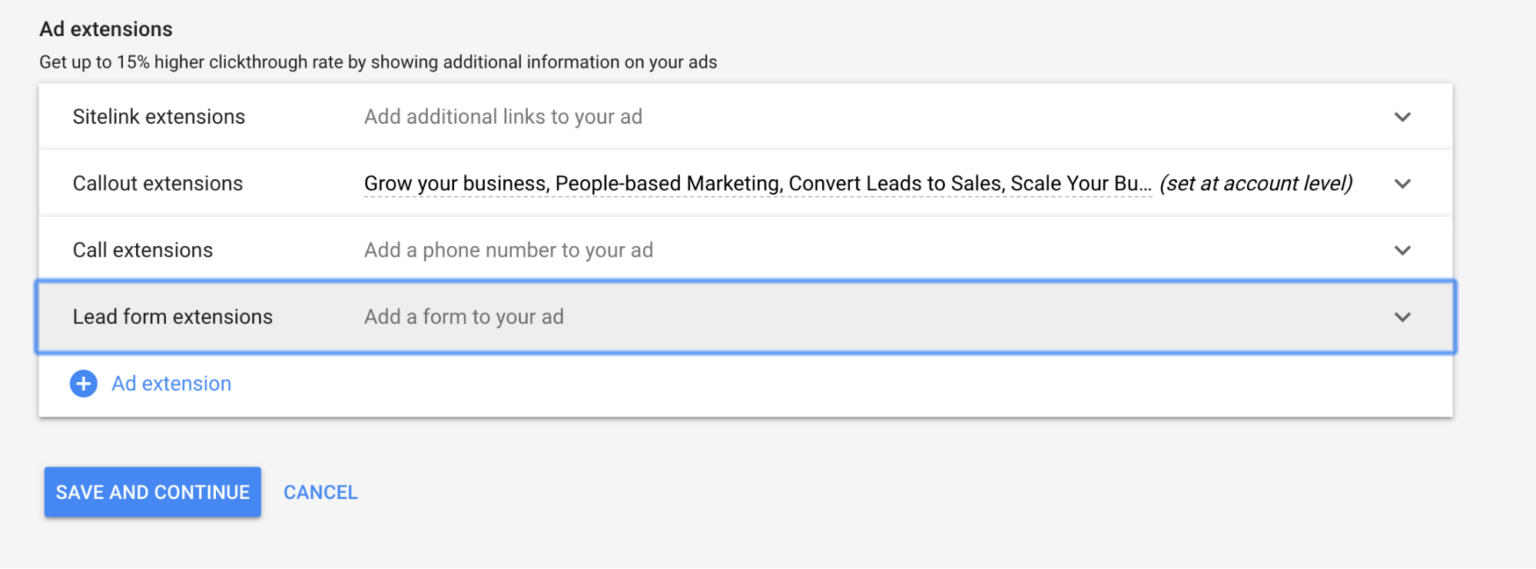 Мануал по запуску Google Lead Form