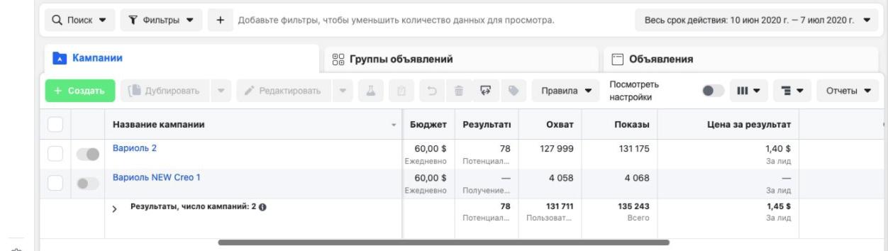 Кейс: сливаем на варикоз из Facebook в Казахстан